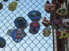 clay faces on fences Portland