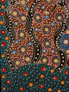 Aboriginal Art, Aboriginal Art for Sale, Dreamtime Art, Indigenous Art | Painting - Dreamtime Sisters - CW10082102 (COLLEEN WALLACE NUNGARI)