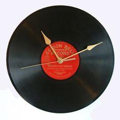 Relógio disco de vinil by Yvone - DECOmyplace Projects