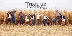 Outdoor family pictures, corn field, fun