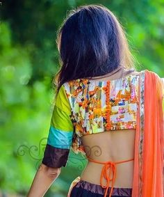 30 Latest Blouse Back Neck Designs In 2019 Blouse Back Neck Designs, Fancy Blouse Designs, Saree Jackets, Sari Blouse, Printed Blouse, 30th, Sarees, Wedding Planner, Neckline