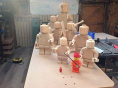 Wooden lego men by Ragskin.deviantart.com on @deviantART