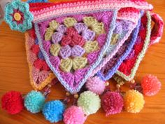 Crochet bunting/Granny triangles