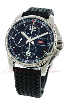 Chopard 1000 Mille Miglia Gran Turismo XL Chronograph, Black Dial - Stainless Steel on Strap