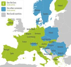 Euro's or not? Find European currency information at this Eurail map