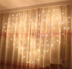 $14.5 - 124 Led Heart-Shape Fairy String Curtain Light Valentine's Day Wedding Christmas #ebay #Home & Garden