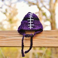 Football hat for a tiny TCU fan.