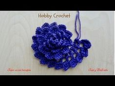 Crochet Flower Rose VERY EASY Tutorial - YouTube