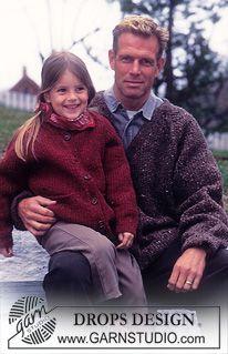 """DROPS Dames-, heren- en kindervest van """"Ull-Tweed"""" ~ DROPS Design"""
