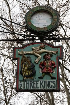 The Three Kings, Clerkenwell Close, This one was very clever! Just look and guess who the three kings are!