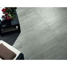 Carrelage extérieur effet béton pour terrasse et tour de piscine 45,5x91 Grey Out, Busker ASCOT