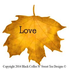 Personalized Fall Sticker-Yellow Maple Personalized by Black Coffee N' Sweet Tea Designs $5.95 per sheet with choice of sizes. Use PIN10 Coupon Code for 10% any purchase!