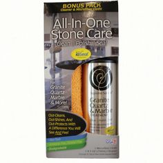 """Supreme Surface® """"All-In-One"""" Stone Care: cleaner, polish, sealer for granite, quartz and marble."""