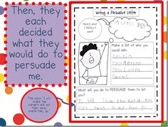 Persuasive writing in kindergarten (also see the 'part 2' blog entry on the following day)