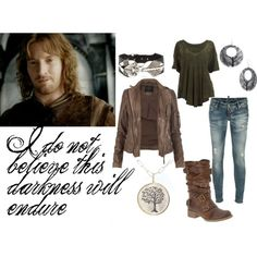 I think I like this Faramir inspired outfit better than the Legolas inspire outfit.
