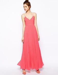ASOS Cami Pleated Maxi Dress - beautiful! Pale pink & Pink - $105