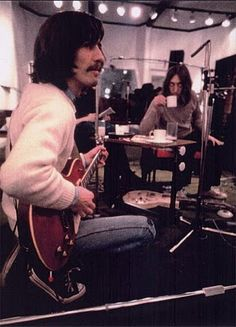 George Harrison and John Lennon