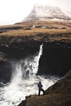Wind and weather can really make a difference, when you are traveling around Iceland sightseeing. This awesome waterfall is fairly small compared to the other powerful waterfalls, you'll find here, but it is raw and thrilling. Great, huh?