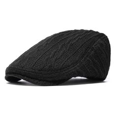 eefb627e38d Men Thickening Adjustable Cotton Solid Warm Breathable Vintage Wool  Knitting Beret Cap is hot sale on Newchic.