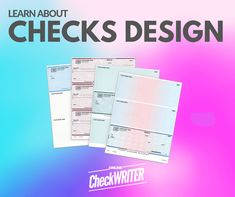 Checks Design - Design Checks Online - Print Instantly On Any Printer