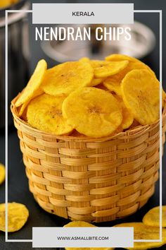 Nendran Chips Recipe / Kerala Nendran Banana Chips is a traditional snack of Kerala and holds an important place in 'Onam Sadhya' and even 'Vishu' recipes. Veggie Recipes, Indian Food Recipes, Vegetarian Recipes, Snack Recipes, Dessert Recipes, Healthy Recipes, Kerala Recipes, Desserts, Onam Sadhya