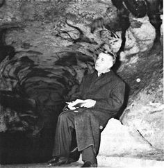 Georges Bataille in the cave of Lascaux