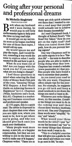 Scan of the Sunday Boston Globe review of Amazing Things Will Happen.