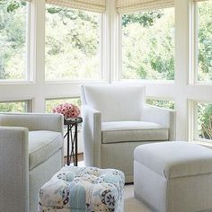 Lovely Sunroom Window Treatments