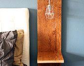 Troika Mirror // Reclaimed Wood Shelf // Triangle Shadowbox // Geometric Frame // Rustic Barn Wood. $139.00, via Etsy.