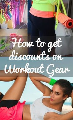 How to get great discounts on workout gear - Reebok, Under Armour, Yoga accessories <3