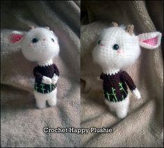 Cute little goat crochet by Shia-Amigurumi.deviantart.com on @DeviantArt