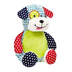 cuddly Teddy dog personalise for Christmas Birthday or Christening