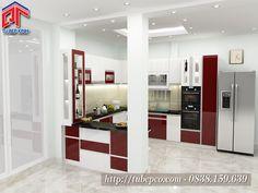 Tủ bếp gỗ thiết kế hiện đại TB105
