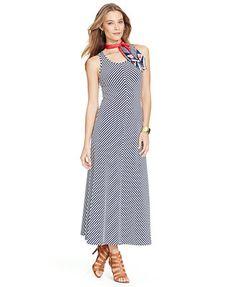 Lauren Ralph Lauren Striped Sleeveless Maxi Dress