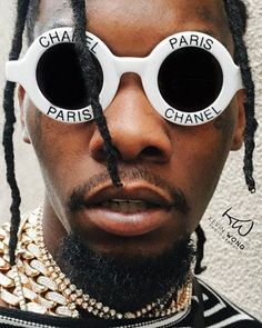 Migos offset the love you Offset Rapper, Cartier, Minions, Young And Rich, Chanel Sunglasses, Sunnies, Raining Men, Pharrell Williams, Baby Daddy