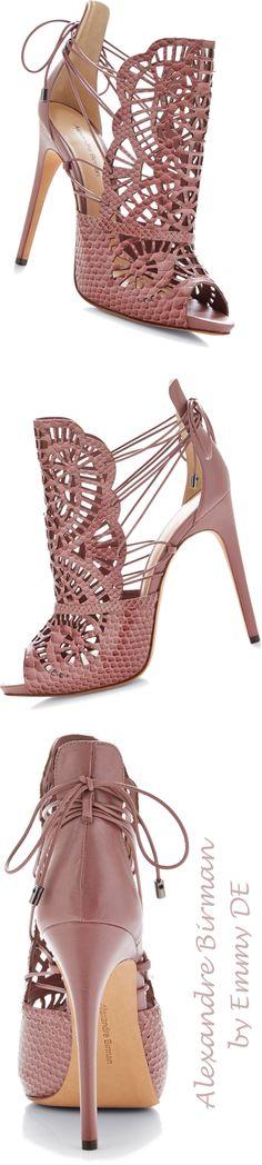 Sandália de Piton cortada a laser rosa Alexandre Birmann