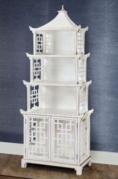 Bungalow 5 pagoda shelf in white. Wish we had a stockist in Australia Asian Furniture, Chinese Furniture, Oriental Furniture, Find Furniture, Sofa Furniture, Painted Furniture, Furniture Design, Furniture Projects, Decoration