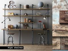 The Industrial Style plays with exposed walls and reclaimed items that ad a harder, unrefined element. You don't however need to live in a warehouse with f
