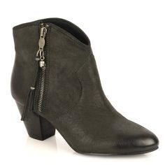 939503e5fe60 Ash Jessbis Nearly Black Leather Ankle Boot Wooden Heel