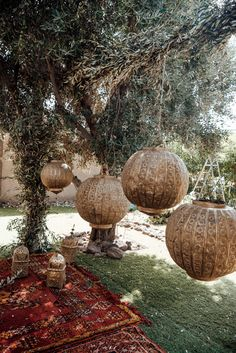 This Spectacular Moroccan Wedding at Villa Taj Marrakech Left Literally No Detail Untouched Moroccan-inspired ceremony area featuring patterned rugs, gold accents, and large hanging balls Magical Wedding, Boho Wedding, Destination Wedding, Dream Wedding, Wedding Day, Bohemian Weddings, Moroccan Wedding Theme, Wedding Reception, Camp Wedding