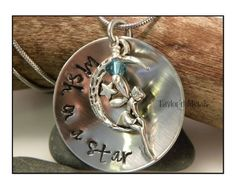 Hand stampedwish on a by TaylordMetals on Etsy, $28.00