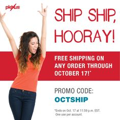 Thinking about trying Plexus? Now is the time!  Free shipping until October 17th.... Check out this amazing line of products