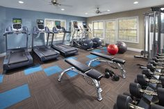 Work up a sweat at Corte Bella's fitness center.