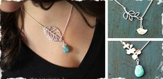 Gorgeous Lariat Turquoise and Silver Necklaces!