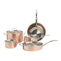 Calphalon Tri-Ply Copper 10-Piece Cookware