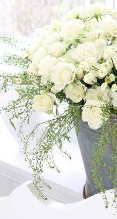 All white florals   W