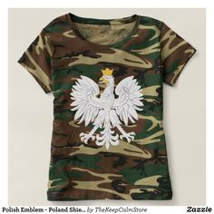Polish Emblem - Poland Shield - Polska Herb Polski T-shirt - Fashionable Women's Shirts By Creative Talented Graphic Designers - #shirts #tshirts #fashion #apparel #clothes #clothing #design #designer #fashiondesigner #style #trends #bargain #sale #shopping - Comfy casual and loose fitting long-sleeve heavyweight shirt is stylish and warm addition to anyone's wardrobe - This design is made from 6.0 oz pre-shrunk 100% cotton it wears well on anyone - The garment is double-needle stitched at…