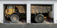 Garage: Des autocollants muraux en trompe l'oeil pour vos portes de garages