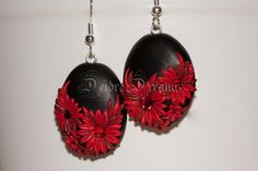 - SOLD - Polymer Clay Flower Earrings  Polymer Clay  by DeidreDreams, €22.50
