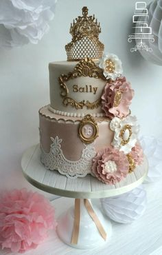 Vintage corsage flowers - Cake by Sophia's Cake Boutique